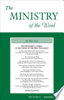 The Ministry Of The Word Vol 23 No 9