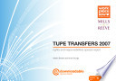 TUPE transfers 2007: rights and responsibilities special report
