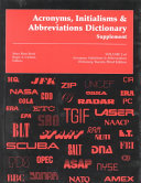 New Acronyms  Initialisms and Abbreviations