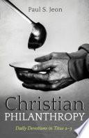Christian Philanthropy Book