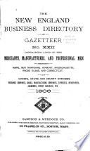 The New England Business Directory and Gazetteer