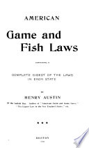 American Game and Fish Laws