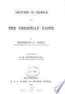 Lectures in Defence of the Christian Faith