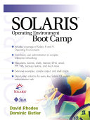 Solaris Operating Environment Boot Camp ebook