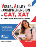 Verbal Ability   Comprehension for CAT  XAT   other MBA Entrance Exams 4th Edition