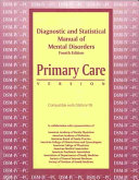 Diagnostic and Statistical Manual of Mental Disorders  Fourth Edition