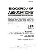 Encyclopedia Of Associations V1 National Org 46 Pt1 Book PDF