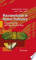 Macroevolution in Human Prehistory Book