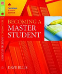 Becoming A Master Student Canadian Book