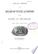 Annual Report of the Board of State Auditors for the State of Michigan for the Year     Book