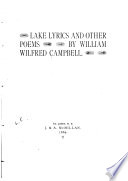 Lake Lyrics and Other Poems