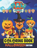 Paw Patrol Coloring Book Halloween Edition