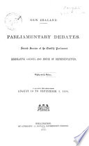 Index to the Appendices to the Journals of the Legislative Council and House of Representatives of New Zealand