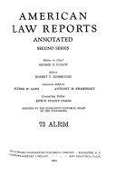 American Law Reports Annotated, Second Series