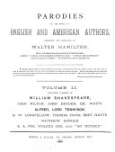Pdf Parodies of the works of English and American authors, collected and annotated by W. Hamilton