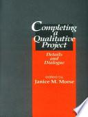 Completing A Qualitative Project