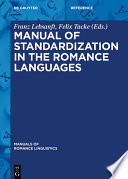 Manual of Standardization in the Romance Languages