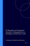 Die Fragmente Der Griechischen Historiker  Continued
