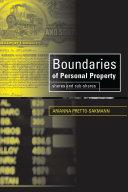 Boundaries of Personal Property