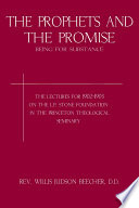 The Prophets and the Promise Book