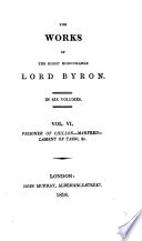 The works of ... lord Byron