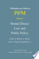 Mental Illness Law And Public Policy