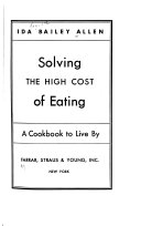 Solving the High Cost of Eating Book