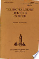 The Hoover Library Collection On Russia