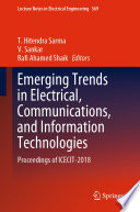 Emerging Trends In Electrical Communications And Information Technologies Book PDF