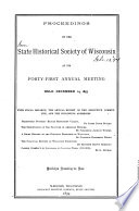 Proceedings Of The Annual Business Meeting