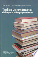 Teaching Literary Research