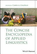 The Concise Encyclopedia of Applied Linguistics [Pdf/ePub] eBook