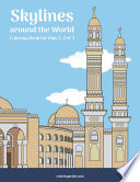Skylines around the World Coloring Book for Kids 1, 2 & 3