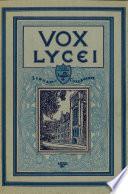 Vox Lycei 1931 1932