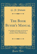 The Book Buyer S Manual
