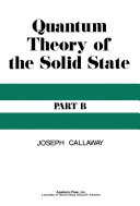 Quantum Theory of the Solid State Pdf/ePub eBook