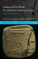 Aršāma and his World: The Bodleian Letters in Context