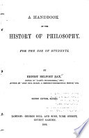 A Handbook of the History of Philosophy for the Use of Students
