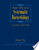 Bergey S Manual Of Systematic Bacteriology