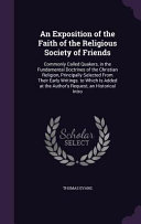 An Exposition Of The Faith Of The Religious Society Of Friends