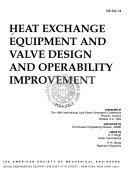 Heat Exchange Equipment And Valve Design And Operability Improvement Book PDF