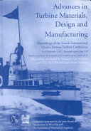 Advances in Turbine Materials  Design and Manufacturing Book