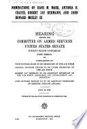 Nominations Of Hans M Mark Antonia H Chayes Robert Jay Hermann And John Howard Moxley Iii