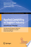 Applied Computing to Support Industry: Innovation and Technology