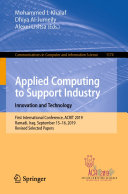 Applied Computing to Support Industry  Innovation and Technology
