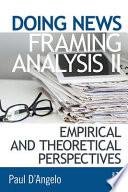 Doing News Framing Analysis II