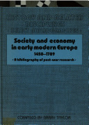 Society and Economy in Early Modern Europe, 1450-1789