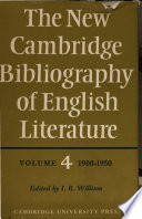 The New Cambridge Bibliography of English Literature Pdf/ePub eBook