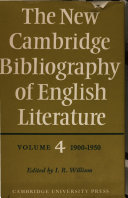 Pdf The New Cambridge Bibliography of English Literature