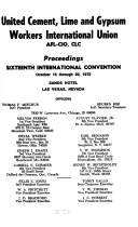 Proceedings International Convention United Cement Lime And Gypsum Workers International Union